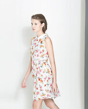 ZARA FLORAL FLOWER PRINT DRESS SIZE M MEDIUM REF 8342 262