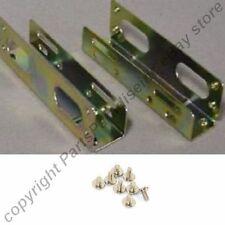 """Lot4 pair Mounting Rail 3.5""""HD/Hard Disk Drive~5.25""""Bay Case Mount Metal Bracket"""