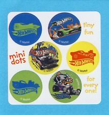 60 Hot Wheels Cars Mini Dot Stickers - Party Favors