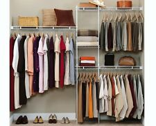 Closet Organizer Shelves System Kit Shelf Rack Clothes Storage Wardrobe Hanger