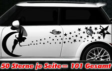 101 Sterne Star Auto Aufkleber Set Sticker Tuning Fee Stylin WandtattooTribel