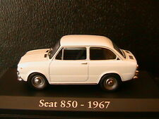 SEAT 850 1967 WHITE RBA COLLECTABLES 1/43 BIANCA BLANC BLANCHE WEISS SPANIA
