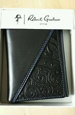 "NWT Robert Graham ""KLEIN""  Tri-Fold Wallet, Color  Black $78.00"