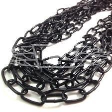 3 metri Hank 5.0 x 35 x 10 mm nero saldati collegamenti catena per appendere RECINZIONE HEAVY DUTY