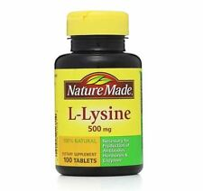 Nature Made L-Lysine 500 mg Tablets 100 ea