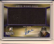 JAKE BEAN 2015-16 LEAF ITG HEROES & PROSPECTS GAME USED JERSEY AUTO /20