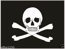 2 x Pirate, skull and crossbones, jolly roger decals self adhesive vinyl sticker