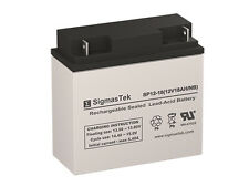 SigmasTek Replacement Battery For Power Sonic PS-12180-NB Battery 12 V 18 AH