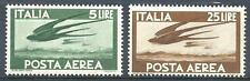 Italy 1945 Sc# C109/112 Airmail Swallows 2 stamps MNH