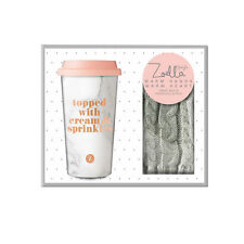 Zoella Warm Hands Warm Heart Travel Mug & Fingerless Gloves ��CLEARANCE SALE��