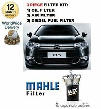FOR CITROEN C5 2.2HDi 170BHP 2008-  SERVICE KIT OIL AIR FUEL ( 3 ) FILTER SET