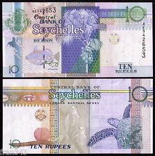 SEYCHELLES ISLAS 10 rupees 1998 2005 Pick 36b  SC  /  UNC