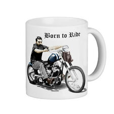 NED KELLY   ON A HARLEY  BORN TO RIDE  SUCH IS LIFE         QUALITY  11oz   MUG