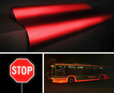 "Red reflective 2ft x 48"" vinyl film Vvivid self adhesive cutter sign decal"