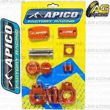 Apico Bling Pack Orange Blocks Caps Plugs Clamp Cover For KTM EXC 125 2000-2007