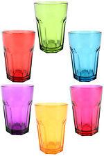 Le bevande COLORATE vetro, multi-color BICCHIERI, capacità 300ml, Set di 6