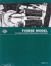 2014 Harley-Davidson Dyna FXSBSE CVO Breakout Service Repair Manual Supplement