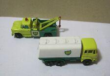 Vtg. Matchbox BP Trucks Dodge Wreck & Petrol Tanker  T*