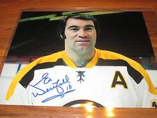 BOSTON BRUINS ED WESTFALL 8X10 AUTOGRAPH IN HOLDER WITH COA