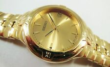 Seiko Gold Tone Stainless Steel 7N42-6C68 Sample Watch NON-WORKING