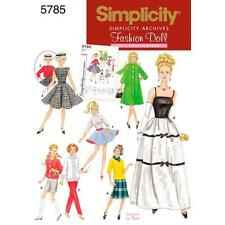 SIMPLICITY SEWING PATTERN ARCHIVES FASHION DOLL 11 1/2 INCH CLOTHES 5785