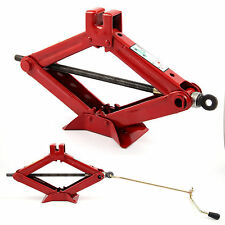 HIGH QUALITY 2 TON TONNE CAR VAN GARAGE HOME EMERGENCY WIND UP SCISSOR JACK LIFT