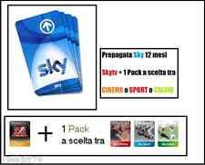 PREPAGATA SKY TV + 1 PACK A SCELTA TRA Cinema, Sport o Calcio VALIDA 13 MESI