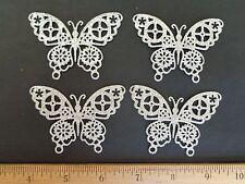 Steampunk Butterfly Die Cuts Silver Glitter Cardstock