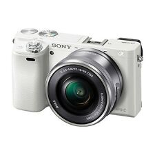 NEW Sony Alpha a6000 Mirrorless Digital Camera White 24.3MP + 16-50mm Lens WiFi