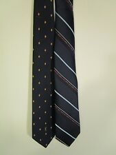Vintage Yves Saint Laurent lot of 2 Men's Neckties Neck wear NAVY BLUE