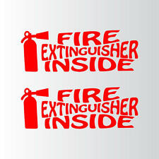 "FIRE Extinguisher Inside SETOF2 Decal Stickers 9""x3.25"""