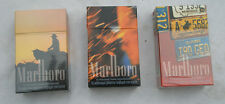 3 Empty collectible  Paper Packets of cigarettes MARLBORO .
