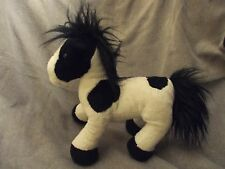 """12"""" black & white pinto/paint horse by dongguan soyea toys"""