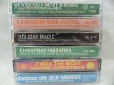 6 Brand New Christmas Cassettes Julie Andrews Bing Crosby Dean Martin Peggy Lee