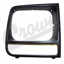 Headlamp Bezel Black Right Side Jeep Cherokee XJ 1997-2001 55055136 Crown