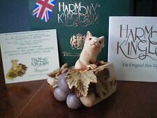 Harmony Kingdom Gruyere Mouse on Cheese UK Made Marble Resin Box Figurine NIB