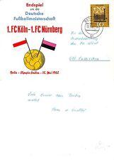 Deutschland Berlin 1962 fussballmeisterschft FC Köln- FC Nürnberg (S-L XX315)