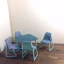 Vintage Barbie Mattel 1977 Four Chairs and Table Set