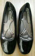 PAVERS  . Ladies black patent leather , slip on shoes Size 5 .  Very comfortable