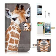 iPod Touch 5 iTouch 5 Flip Wallet Case Cover! P1727 Giraffe