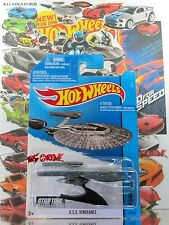 Hot Wheels 2014 #75 STAR TREK U.S.S. Vengeance DARK GREY,1ST EDITION,WITH STAND