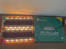Traditions UL 100 Mini Lights Multi Color For Indoor And Outdoor Christmas Light