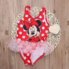 New Baby Girls Kids Minny Mickey Mouse Bathing Swimwear Swimsuit Tankinis Bikini