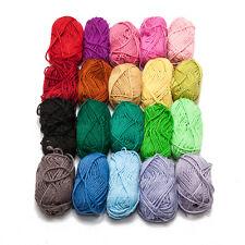 Nuevo Paquete de 20 Varios Colores Calidad Hebras Punto Bolas Lana Manualidades
