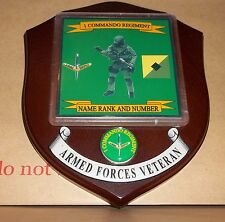 Australian Armed Forces,1Commando Regiment Veteran Wall Plaque personalised free