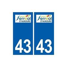43 Saint-Ferréol-d'Auroure logo autocollant plaque immatriculation ville arrondi