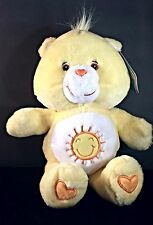 "Care Bear Fun-Shine Bear stuffed animal Plush yellow 13"" 185 USA Seller"