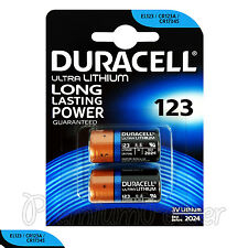 2 x Duracell Ultra Lithium CR123A 3V batteries CR17345 EL123 2 in Pack EXP:2024