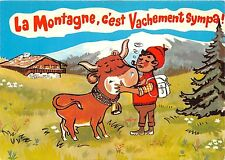 BR5618 La Haut sur la montagen vache cow  postcard  france