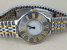 CARTIER must de 21 LADIES QUARTZ COMBI SILVER DIAL WATCH Fantastic watch